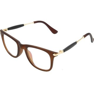 HH UV Protected Brown Clear Unisex Wayfarer sunglasses