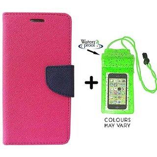 Mercury  Flip Cover Samsung Galaxy J2  / Samsung J2  - PINK With Underwater Pouch Phone Case