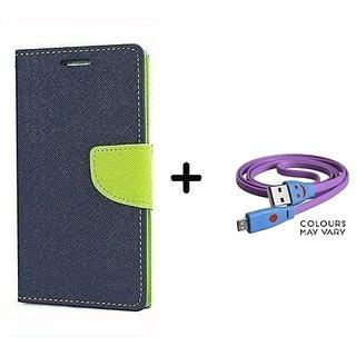 Mercury  Flip Cover  Redmi Note 5 Pro / REDMI NOTE 5 PRO   - BLUE With Micro SMILEY USB CABLE