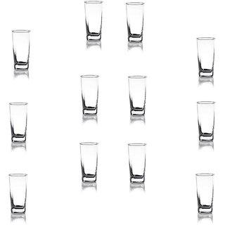 Somil Multi Purpose Beverage Tumbler Drinking Glass Set For Home & Bar Use ( Set Of 12) DR 16