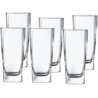 Somil Multi Purpose Beverage Tumbler Drinking Glass Set For Home & Bar Use ( Set Of 6) DR 24