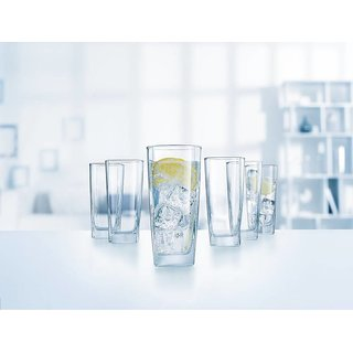 Somil Multi Purpose Beverage Tumbler Drinking Glass Set For Home & Bar Use ( Set Of 6) DR 25