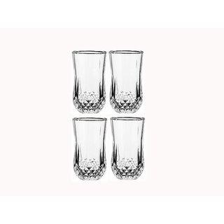 Somil Multi Purpose Beverage Tumbler Drinking Glass Set For Home & Bar Use ( Set Of 4) DR 09