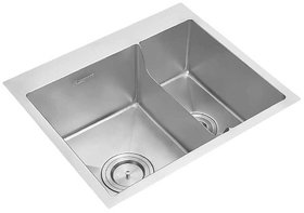 Anupam Stainless Steel Sink PS740MB (610 x 510 x 225 mm / 24 x 20 x 9 inch) Double Square Bowl Without Drain Board