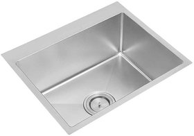 Stainless Steel Kitchen Sink PS741SS (610 x 510 x 250 mm / 24 x 20 x 10 inch) Single Square Bowl Without Drain Board
