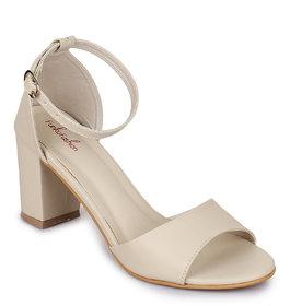 Funku Fashion Beige Block Heels