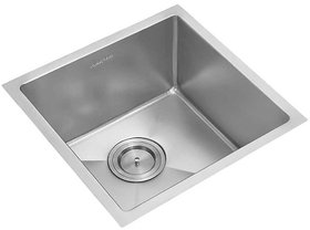 Anupam Stainless Steel Sink PS742SB (510 x 510 x 250 mm / 20 x 20 x 10 inch) Single Square Bowl Without Drain Board
