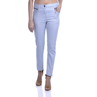 Timbre Women HIgh Waist St-reachable Sky Blue Jegging with Zipper Pockets