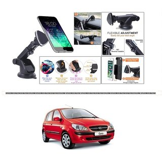 KunjZone Mount Holder Stand Car Dashboard Windshield Strong Magnet Extendable Long Arm 360 Rotation For Hyundai Getz Prime