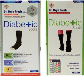 Dr. Oxyn Socks And World Class Silver Socks - Diabetic Care Socks of Men And Women - Pain Relief Socks (Combo Pack)