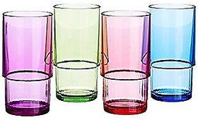 Deluxe Tumblers set of 4 (Multicolor)