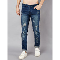Stylox Men Slim Fit Mid Rise Rugged Blue Jeans