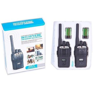 Black Interphone Walkie Talkie Set For Kids by Shribossji
