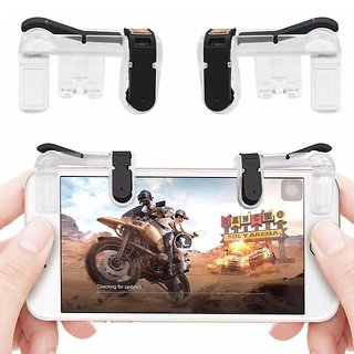 Tech Gear Transparent Gaming Trigger for PUBG Mobile Game Fire Button Aim  Key L1R1 Shooter Mobile Gaming Controller