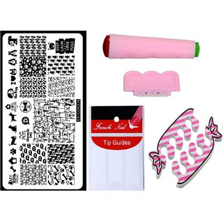 Royalkart Nail Art Kit With 1 Stamping Image Plate(XY-COCO4) Stamper Scraper Finger Tip Guide and Finger Rest