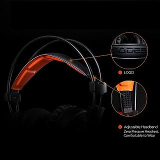SADES A6 Gaming Headphone with Mic USB Professional Over Ear Stereo Gaming Headset with LED Noise Cancellation & Wonderful Sound Effect V1608  ...