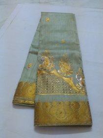Ivory Colour Silk Cotton Saree Grand Pallu Negamum W/B Silk Cotton Full Zari Work Saree