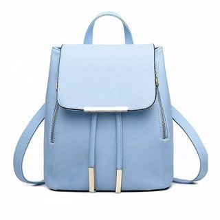 Bizarre Vogue Stylish College Bags for Girls (Sky Blue, BV1057)