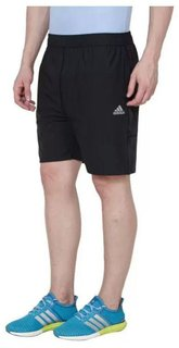 Adidas Black Polyster Shorts for Sports