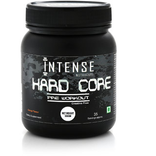 Hard Core Pre Workout 350 gms / 35 Servings, Creatine free (Orange Flavour)