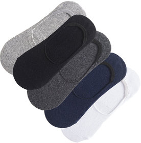 Pack of 5 Cotton Loafer Socks by Concepts - Black, Grey, Dark Grey, Navy, White