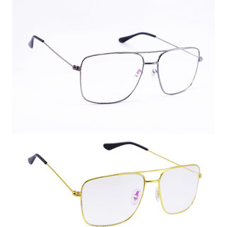 Derry Combo Of 2 Transparent Rectangular Sunglasses