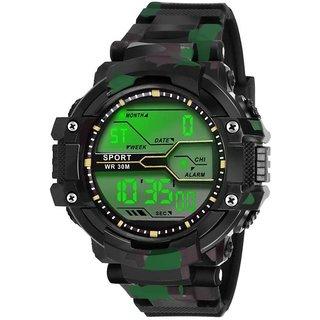 New Green Digital SKmei Army Digital Sport Watch For Men,Boys