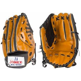 Jonex BIG BOSS-382 Soft Ball Leather Baseball Gloves (Mustard)