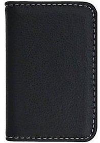 Soft Leather Card Holder ATM / Business Card Holder (Black)