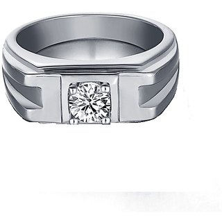 bf9ebe9f6 Buy RM Jewellers 92.5 Sterling Silver American Diamond Loving Stylish Ring  for Men Online - Get 38% Off