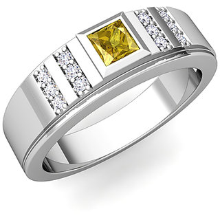 582f03085 Buy RM Jewellers 92.5 Sterling Silver American Diamond Stylish Awesome Ring  for Men Online - Get 50% Off