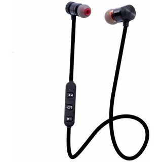 Wireless Sports In the ear Bluetooth Magnet Headphone for Android and iOS Mobiles(Black)