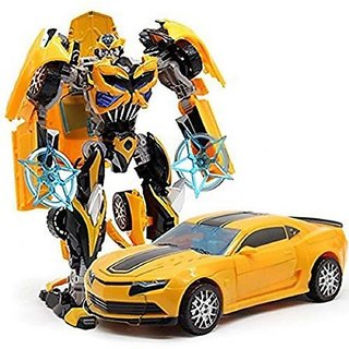Shribossji Robot to Car Converting Transformer Toy Car For Kids / Children  (multicolor)