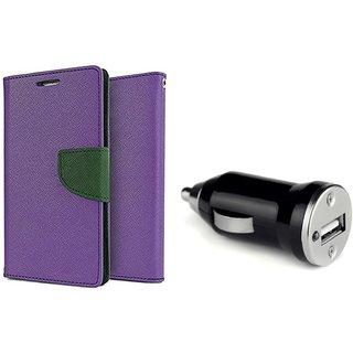 Flip Case for Motorola Moto G4 Play  /  Moto G4 Play  ( PURPLE )  With CAR ADAPTER