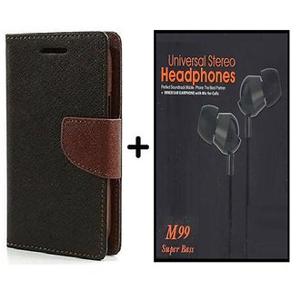 Flip Case for HTC Desire 826  / HTC  826  ( BROWN ) With Earphone(BLK60A)
