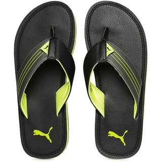 Puma Men's Green and Black Slippers