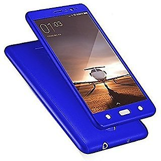 iPaky Full 360 Protection Front  Back Cover With Tempered Glass for REDMI NOTE 4 (BLUE)