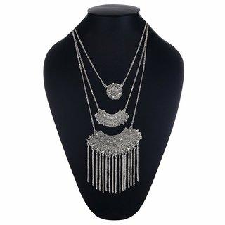 Minha   Afghani Designer Turkish Style Vintage Oxidised German Silver Tribal Necklace Pandeant Antique Jewellery Set For