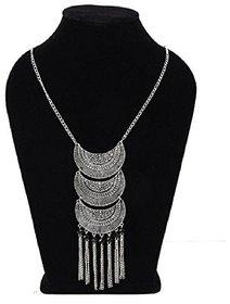 Minha  Turkish Style Vintage Oxidised German Silver Tribal Necklace Set for Women