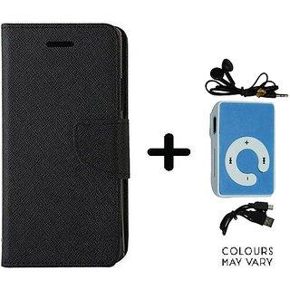 Mercury Goospery flip Cover For Samsung Galaxy J7 Prime  / Samsung J7 Prime  ( BLACK ) With Mini MP3 Player