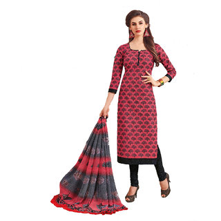 Pankhudi Creations Multicoloured Cotton Dress Material