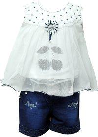 Princeandprincess Girls cotton Shorts and Top Set