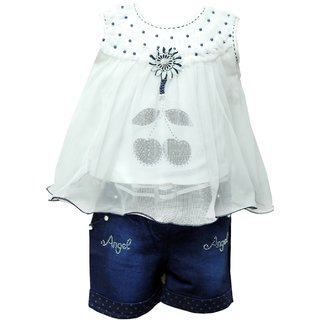 Princeandprincess Girls cotton Shorts and Top Set