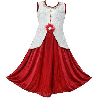 Clobay fashion Satin Skuba Dress for Girls