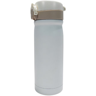6th Dimensions 350ML New Stainless Steel Flask Thermos Readily Cup Mug Coffee (WHITE)