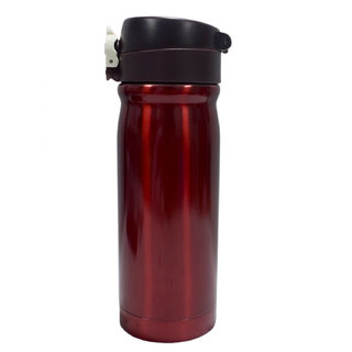 6th Dimensions 350ML New Stainless Steel Flask Thermos Readily Cup Mug Coffee (light maroon)