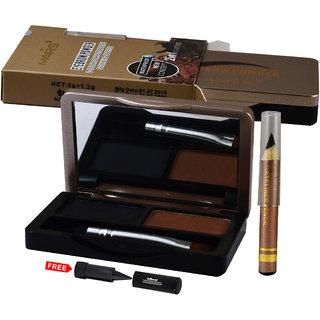Mars 2in1 Eyebrow Powder+ Eyebrow Pencil-89003 With Free Adbeni Kajal Worth Rs.125/