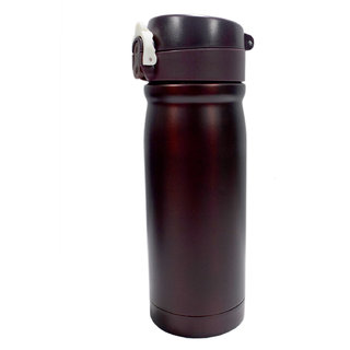 6th Dimensions 350ML New Stainless Steel Flask Thermos Readily Cup Mug Coffee (brown)