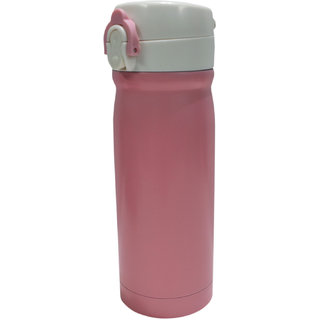 6th Dimensions 350ML New Stainless Steel Flask Thermos Readily Cup Mug Coffee (PINK)