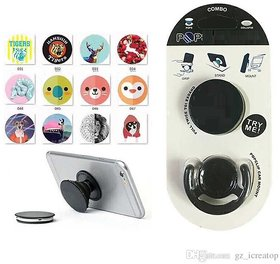 PopSockets Holder with Car Mount Mobile Hanger For Mobile Phone - Assorted Color and Design